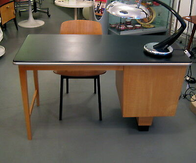mid century design schreibtisch vintage desk 40er 50er jahre m bel berlin eur 520 00. Black Bedroom Furniture Sets. Home Design Ideas