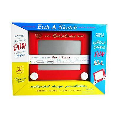 Kid's Classic Red Etch A Sketch - Teen Toddler Fun Games Activity Travel Bedroom