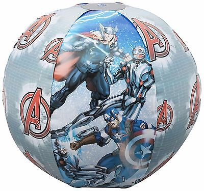 "AVENGERS 16"" INFLATABLE BEACH BALL Marvel Summer Toys Holiday Pool Swimming"