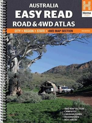 Australia Easy Read Road and 4wd Atlas A3 Spiral: HEMA.A.041SP
