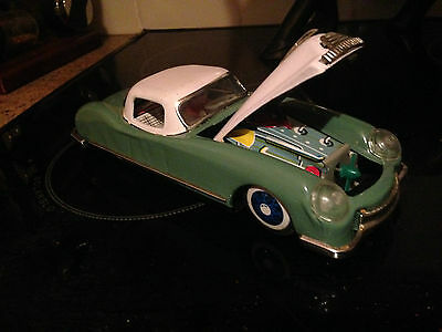 Vintage Tin Plate Toy Car=Very Good Condition