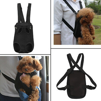 Pet Dog Puppy Canvas Front Carrier Bag Safe Backpack Travel Carry Tote Bag Small