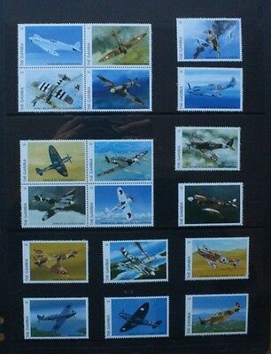 GAMBIA 1996 Spitfire Schneider Trophy. Set of 18. Mint Never Hinged. SG2358/2375