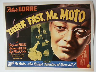 """THINK FAST MR MOTTO"" Peter Lorre  8x10'' studio copy photo"