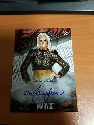 2017 Topps WWE Road to Wrestlemania MARYSE AUTOGRAPH /200 MADE
