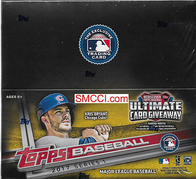 2017 Topps Baseball 1 Series One Factory Sealed Retail Box of 24 Packs 288 Cards