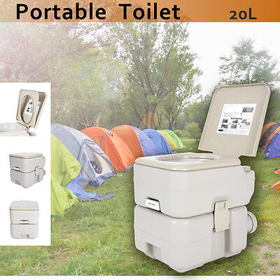 20L Portable Toilet Camping Caravan Potty Restroom For Travel Outdoor Hiking