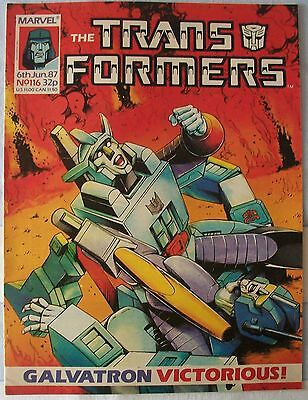 Transformers UK Comic Issue 116 June 87 Burning Sky
