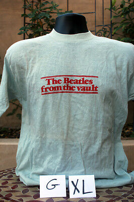 BEATLES 'From the Vault' 1980 RARE True Vintage Graphic T-Shirt * NEW! * XL