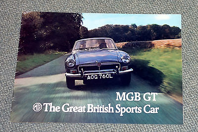 MG MGB GT Sports Car Sales Brochure 1973 #2962 L Reg