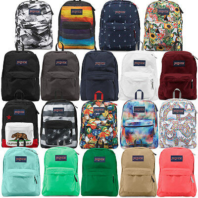"Jansport ""Superbreak"" Backpack Classic School Book Bag Original Authentic"