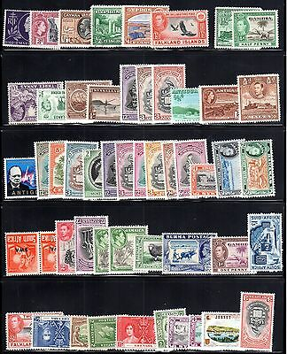 UK BRITISH COMMONWEALTH 1940's - 80's COLLECTION OF ABOUT 400 ALL MINT MANY COMP