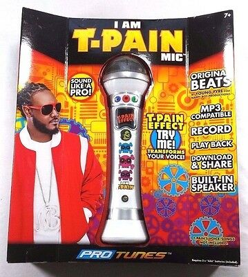 I Am T-Pain Mic Special Effect Voice Changer Recording Microphone White NIB