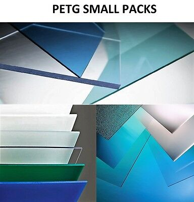 """PETG CLEAR PLASTIC SHEET 0.040/"""" X 8/"""" X 12/"""" VACUUM FORMING RC BODY HOBBY 8 Pack"""