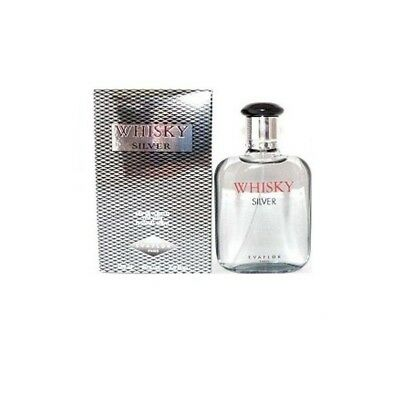 Evaflor Whisky Silver 100ml EDT (M) SP Mens 100% Genuine (New)