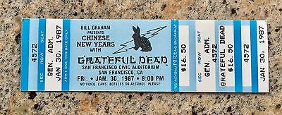 GRATEFUL DEAD Chinese New Year 1987, SF Civic Center - Unused Ticket - Last One!