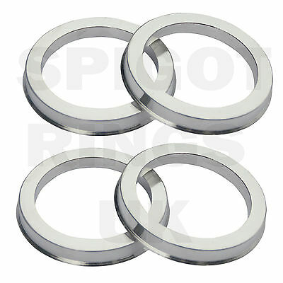 Metal Alloy Wheel Centre Locating O Spigot Rings 67.1 to 60.1 Pack of 4 Metallic
