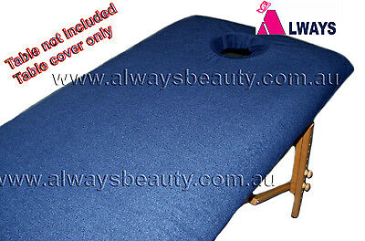 Navy Blue Towelling Cover With Facehole FOR Massage Table Beauty Bed Salon Spa