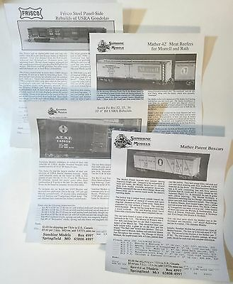 Sunshine Models Speedwitch Media flyers instructions PDS drawings & more