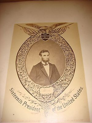 ABRAHAM LINCOLN RARE 1865 LARGE PHOTO - Not CDV or Cabinet Card - ORIGINAL