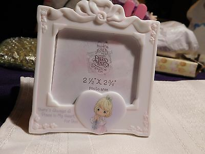 Precious Moments 2002 Square Photo Frame w/Heart - Always A Place in Heart