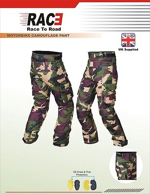 RAC3 Mens Cordura Textile  Waterproof CE Armoured Motorbike Motorcycle Trousers