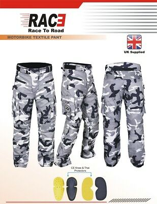 RAC3 Mens Cordura Textile  Waterproof CE Armoured Motorcycle Motorbike Trousers