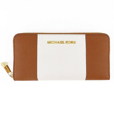Michael Kors Saffiano Leather Continental Zip Wallet