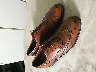 vintage '1980 DACK'S oxford  wing tip brogue  mens shoes sz 8 E