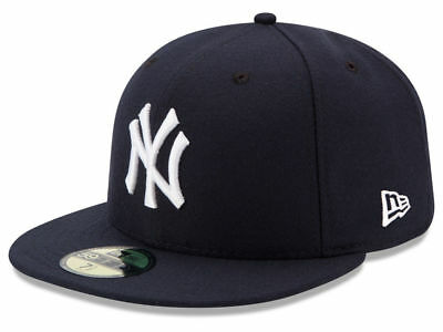 New Era 59Fifty New York NY Yankees 2017 Game Fitted Hat (Dark Navy) MLB Cap
