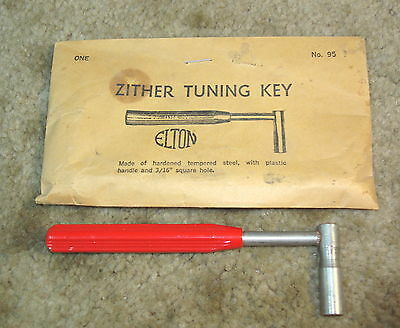 """Vintage Elton Zither Tuning Key /  Wrench #95, for 3/16"""" Square Tuning Pegs"""