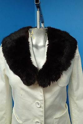 05149 Beautiful Soft Dark Brown Mahogany Rabbit Real Fur Collar