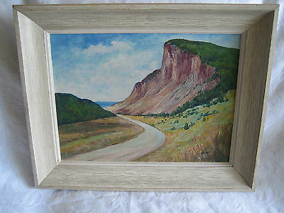 Vintage Oil On Board Painting Cabot Trail Signed Nova Scotia