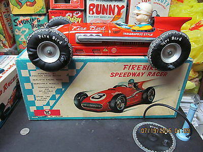 Firebird Speedway Racer Tin Friction Car Boxed 14.5 Inches N Mint Tomiyama Japan