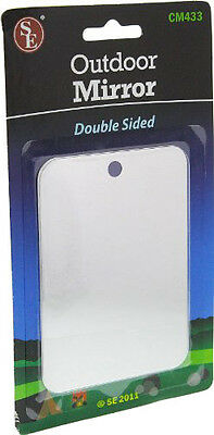 Double Sided Emergency Outdoor Mirror Hiking Camping Signaling Mirror