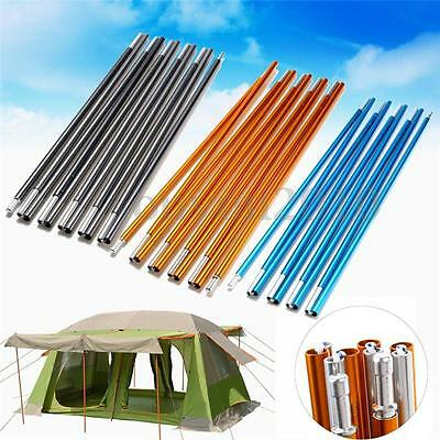 8.5/9.5/11mm 9-16 Sections Aluminum Alloy Replacement Camping Travel Tent Poles