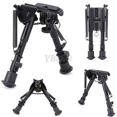 "Adjustable 6""-9"" Bipod Legs Sling Swivel Mount Holder For Sniper Rifle Hunting"