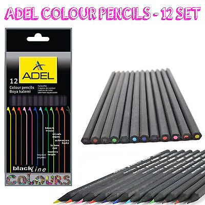 Adel Coloured Pencils set of 12 | Bright Colours | Arts n Craft Colouring