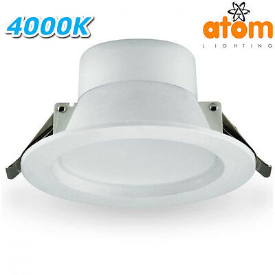 New Atom At8037 8W Led Dimmable Downlight Kit - White - 4000K Cool White - Ip44