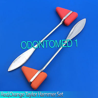 2 Pieces Set Red,Orange Taylor Percussion Reflex Hammer Medical Instruments