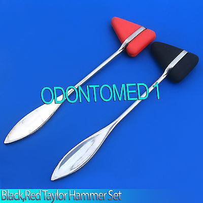 2 Pieces Set Red,Black Taylor Percussion Reflex Hammer Medical Instruments