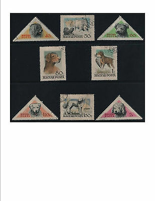 Hungary 1956 Hungarian Dogs set of 8 fine used