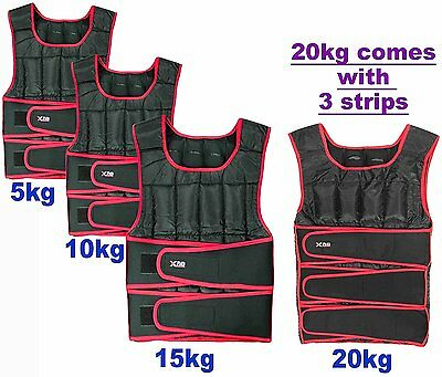 Weighted Vest 5,10,15,20Kg Weight Loss Training Running Adjustable Jacket #4HJ