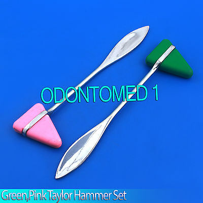 2 Pieces Set Pink,Green Taylor Percussion Reflex Hammer Medical Instruments