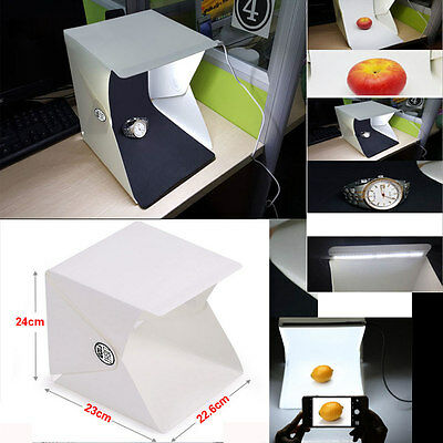 "Mini Backdrop Cube Box Photo Studio Light Room 9"" Photography Lighting Tent Kit"