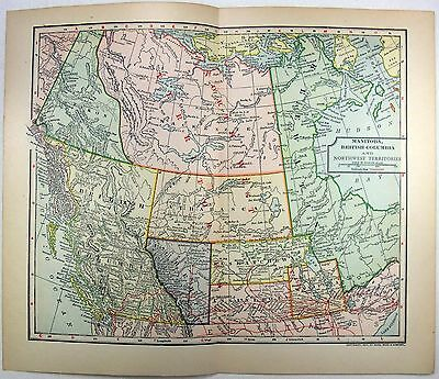 Original 1902 Dated Map of Western Canada by Dodd Mead & Company