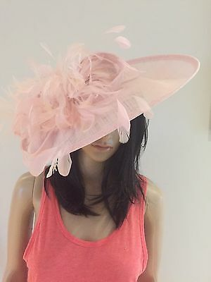 Nigel Rayment Pale Pink Wedding Ascot Occasion Hatinator Hat Mother Of The Bride