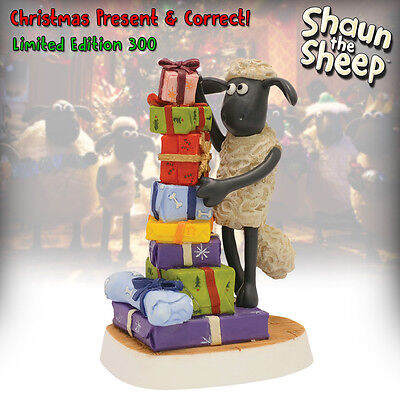 NEW! Shaun the Sheep - Christmas Special 2015 - Robert Harrop Figurine - Ltd Ed