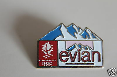 albertville 1992 olyimpic evian water tie or lapel  pin badges.