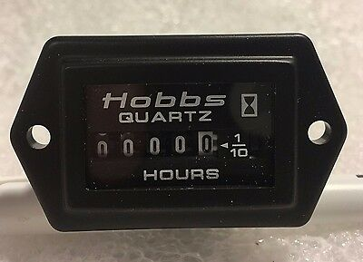 New Panel Mount Hobbs Meter P/n 15000 Includes Wire And Hardware, Instructions